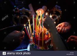 amazing birthday candle blazing amazing birthday candles happy birthday party stock photo