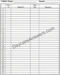 Daycare Sign In Sheet Template Daycare Sign In Sheet Template Weekly Mon Sun Daycare Sign In