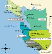 map of san francisco area san francisco bay area tourism map