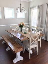 dining room set with bench farmhouse table bench diy dining table bench and free