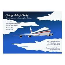 farewell invitation plane bye zazzle