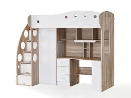 lit combin avec bureau combiné avec bureau et rangement couchage 90x190cm combal