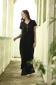 amazonion pocket maxi dress black by shabby apple