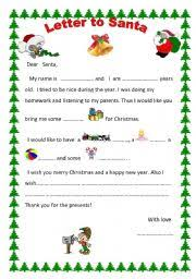 santa claus letters teaching worksheets a letter to santa