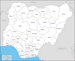 Map Of Nigerian States by Nigeria Free Map Free Blank Map Free Outline Map Free Base Map