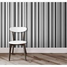 Black And White Striped Wallpaper by Fine Decor Glamour Glitter Striped Wallpaper White Black