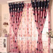 Little Girls Bedroom Curtains Modern Cute Girls Room Pink Black Beige And Red Polka Dot Curtains