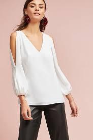 open shoulder blouse shoshanna open shoulder blouse anthropologie