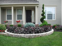 bedroom flower bed ideas front of house classic front yard