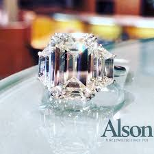 engagement rings emerald cut engagement rings meaning beautiful