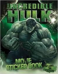 incredible hulk movie sticker book marvel cinematic