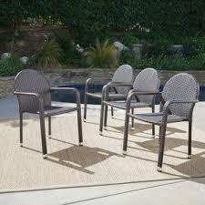 wicker patio dining chairs you u0027ll love wayfair