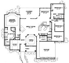 ranch style house plan 4 beds 2 5 baths 2500 sq ft plan 472 168