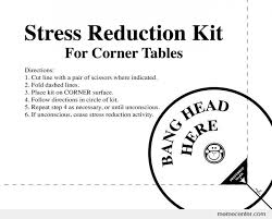 Funny Stress Memes - stress reduction kit print for work by ben meme center