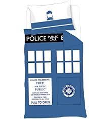 Dr Who Duvet Amazon Com Dr Who Tardis Single Duvet Set Home U0026 Kitchen