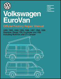 volkswagen eurovan official factory repair manual 1992 1999