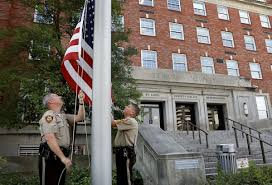 Why Are The Flags Half Mast Today Slain St Louis County Officer Had Been On Force 4 Years Had