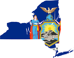New York On Map New York Flag Map U2022 Mapsof Net