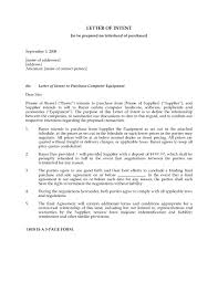 Formal Letter Of Intent by Letter Of Intent To Purchase Computer Equipment Legal Forms And