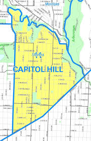 Seattle Districts Map by Capitol Hill Seattle Neighborhood Map Diagram Free Printable
