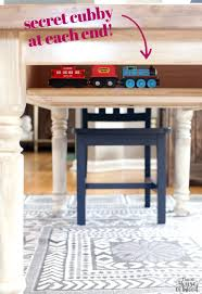 Diy Craft Desk With Storage Farmhouse Table Craft Diy Furniture And Diy Ideas