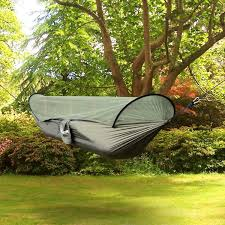 outsunny hammock outdoor mosquito camping hanging sleeping bed