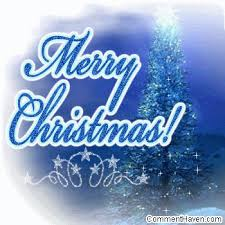 blue merry christmas graphics
