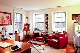 Federal Style Interior Decorating 20 Home Offices That Turn To Red For Energy And Excitement
