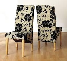 Covered Dining Room Chairs Delightful Design Fabric For Dining Room Chairs Majestic Ideas