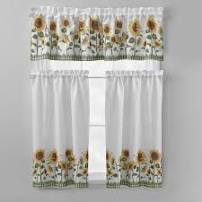 Kitchen Curtains Swags by Ergonomic Sunflower Kitchen Curtains 124 Sunflower Kitchen