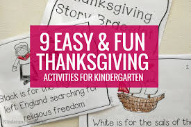 elementary thanksgiving activities 9 easy and fun thanksgiving activities for kindergarten
