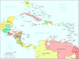 Guantanamo Bay Map Central America Map Map Of Central America