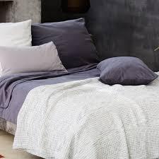 daire cotton quilt ecru u0026amp blue waffle design