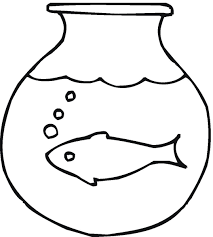 fish outline coloring page fish bowl coloring pages preschool fish printable clipart clipartix