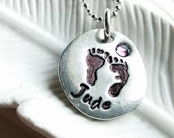 footprint necklace personalized footprint jewelry etsy