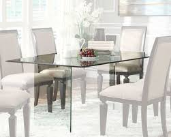 modern glass top dining table homelegance rectangle glass dining table alouette el 17813