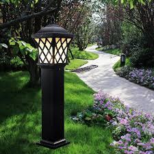 solar post lighting outdoor lighting the home depot inside