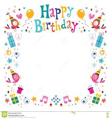 Free Decorative Borders Clip Art Happy Birthday Border Clip Art Outstanding Happy Birthday Borders