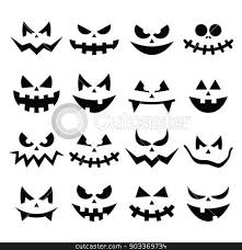 scary halloween clipart black and halloween pumpkin faces clipart clipartxtras
