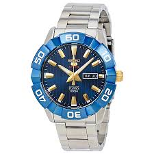 seiko 5 automatic blue dial mens watch srpa53 ebay
