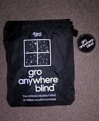 Gro Company Blackout Blind Little Lighty Lights Out A Review Of The Gro Anywhere Blind