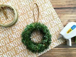 mini jar lid ring wreath diy tree ornament