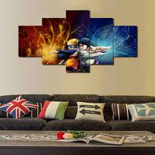 online get cheap anime paintings aliexpress com alibaba group new hot sel 5 pcs modular home decor wall art naruto anime paintings on canvas wall