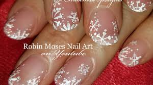 easy white snowflake nails design elegant matte diy xmas nail