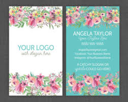floral business card floral business card design watercolor flowers business card