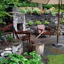 built in wall patio fireplaces ideas medieval stone creative