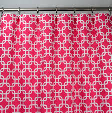 Pink Trellis Curtains Pink And White Modern Chain Link Trellis Drape One Rod