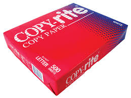 copyrite white lettersize copy paper 500 s 20lb