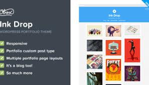 ink drop v1 5 u2013 responsive wordpress portfolio theme oboxthemes