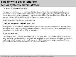 Senior System Administrator Resume Sample Senior Systems Administrator Cover Letter